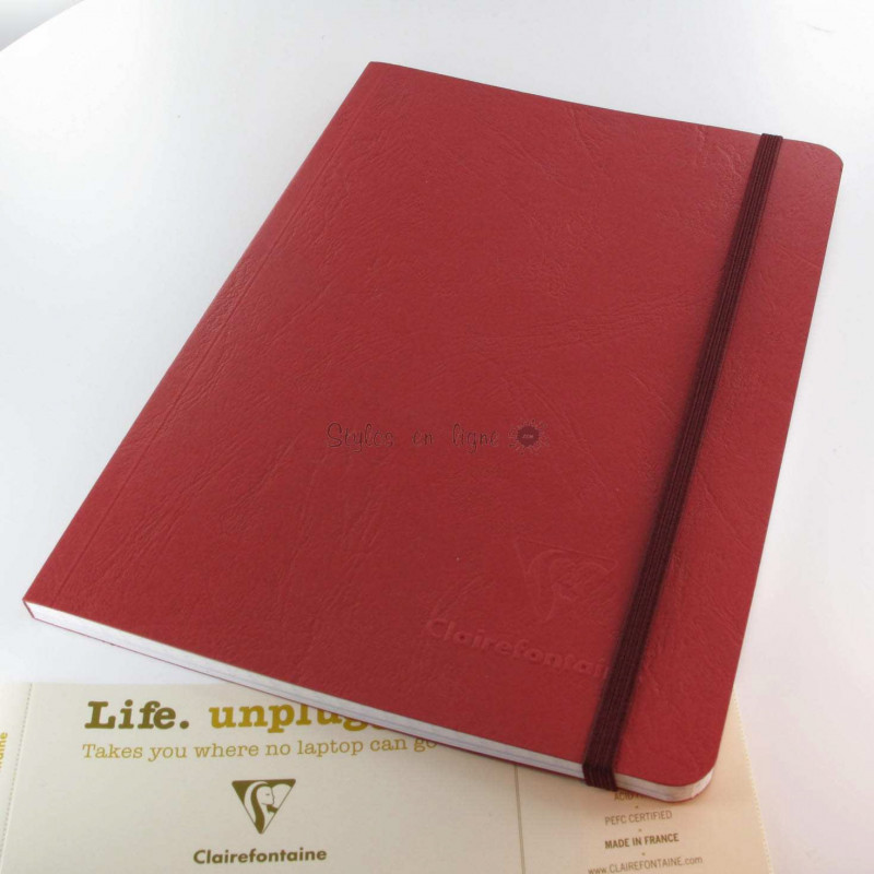 Carnet Demi Format Clairefontaine® Age Bag Rouge Opéra