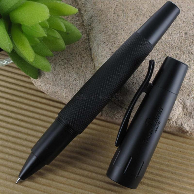 """Stylo Roller Faber Castell® """"e-motion"""" Pure Black Aluminium Noir"""