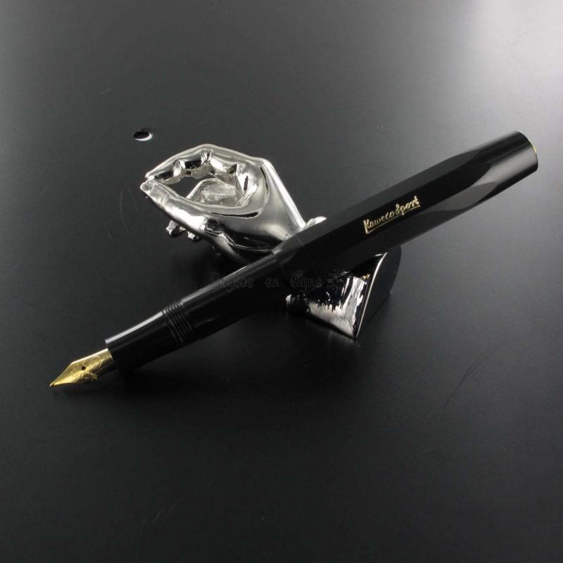 Stylo Plume Kaweco® Classic Sport Noir doré à l'or 23 carrats