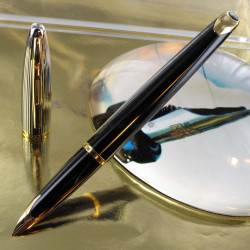 Stylo Plume WATERMAN® Carène Deluxe Or Laque Noire GT