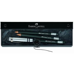 """Coffret Crayons graphite FABER CASTELL® """"Perfect"""" Noir"""