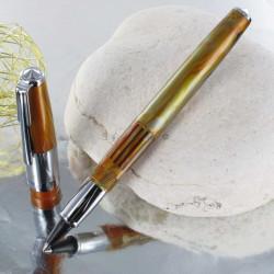 Stylo e-Roller Recife® Amber Press Slim Gold