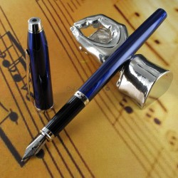 Stylo Plume Moyenne Cross® Century II Précieux Laque Bleue & Rhodium
