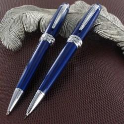 Parure Stylos Bille & Portemines Cross® Bailey Laque Bleue
