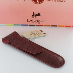 Etui Cuir Laurige® Bordeaux 1 Stylo