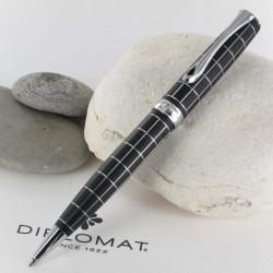 Stylo Bille Diplomat® Excellence A+ Rhomb Guilloché Lapis Noir Chrome
