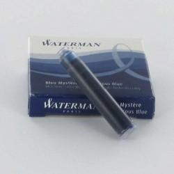 Lot de 5 boîtes de cartouches d'encre WATERMAN® courtes Bleu Mystère