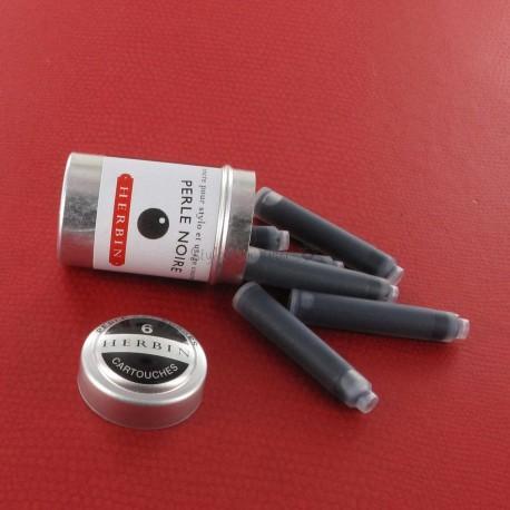 Cartouches d'encre J. Herbin® Noir Boite de 6