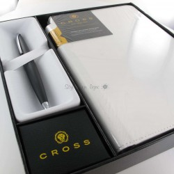 Coffret Stylo Bille Cross® ATX Basalte + Carnet A5 Blanc Cross®