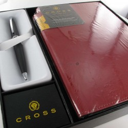 Coffret Stylo Bille Cross® ATX Basalte + Carnet A5 Rouge Cross®