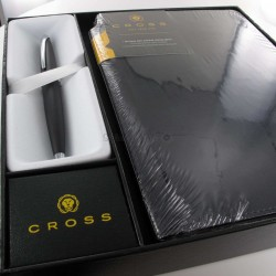 Coffret Stylo Bille Cross® ATX Basalte + Carnet A5 Noir Cross®