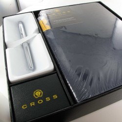 Coffret Stylo Bille Cross® ATX Basalte + Carnet A5 Bleu Cross®