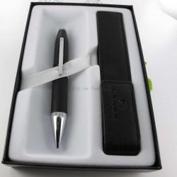 Coffret Stylo Bille Cross® Century II + Etui cuir Cross® Noir