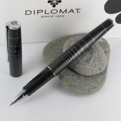Stylo Roller Diplomat® Optimist Noir Ring