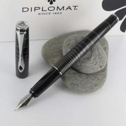Stylo Plume Diplomat® Optimist Noir Ring