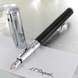 Stylo Plume ST Dupont® D-Initial Noir Chrome