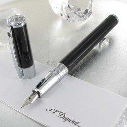 Stylo Plume ST Dupont® D-Initial Noir Brillant