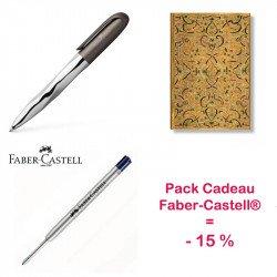 Pack Cadeau Stylo Faber Castell® N'Ice Pen et Carnet Paperblanks®