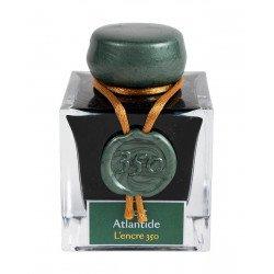 """Flacon d'encre  J. Herbin® """"350"""" Vert Atlantide 50 ml"""