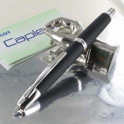 Stylo Plume Pilot® Capless Noir Mat Rhodié, plume moyenne
