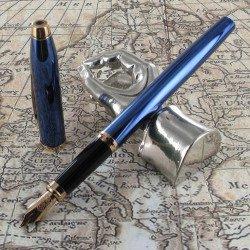 Stylo Plume Moyenne Cross® Century II Bleu Cobalt Translucide