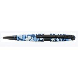 Stylo Roller Cross® Edge Camouflage Bleu Mat