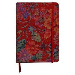 Carnet souple en Cuir Clairefontaine® Céleste Jardin Rouge