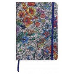 Carnet souple en Cuir Clairefontaine® Céleste Fleurs multicolores
