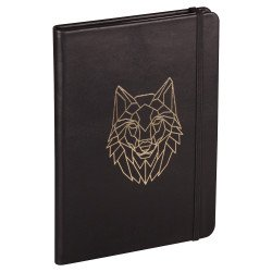 Carnet rigide en Cuir Clairefontaine® Forest Loup