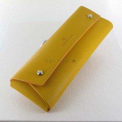 Etui Stylos Oberthur® Cologne (1 à 3 stylos) Moutarde