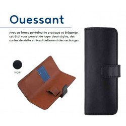 Etui Stylos Oberthur® Ouessant (2 stylos) Noir