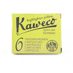 Cartouches KAWECO® Jaune Fluo - Boite de 6