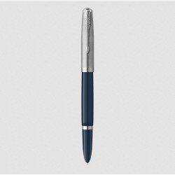 Stylo Plume Fine PARKER® 51 Bleu Turquoise Chromé