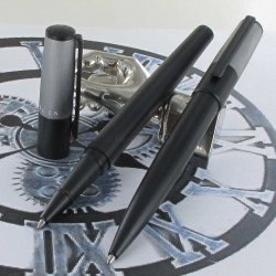 Parure Stylos Roller & Bille Hugo Boss® Gear MINIMAL Noir & Chrome