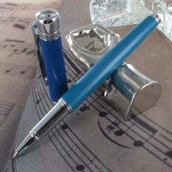 "Stylo Roller Oberthur® ""Blossom"" Bleu"