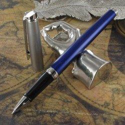 Stylo Roller WATERMAN® Hémisphère Acier Bleu Mat