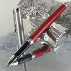 Stylo Roller WATERMAN® Hémisphère Acier Rouge Mat