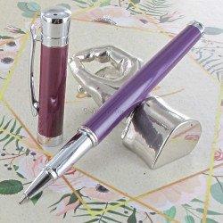 """Parure stylos Plume & Bille Oberthur® """"Blossom"""" Pourpre"""