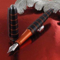 Stylo Plume Moyenne Diplomat® Elox Noir et Orange