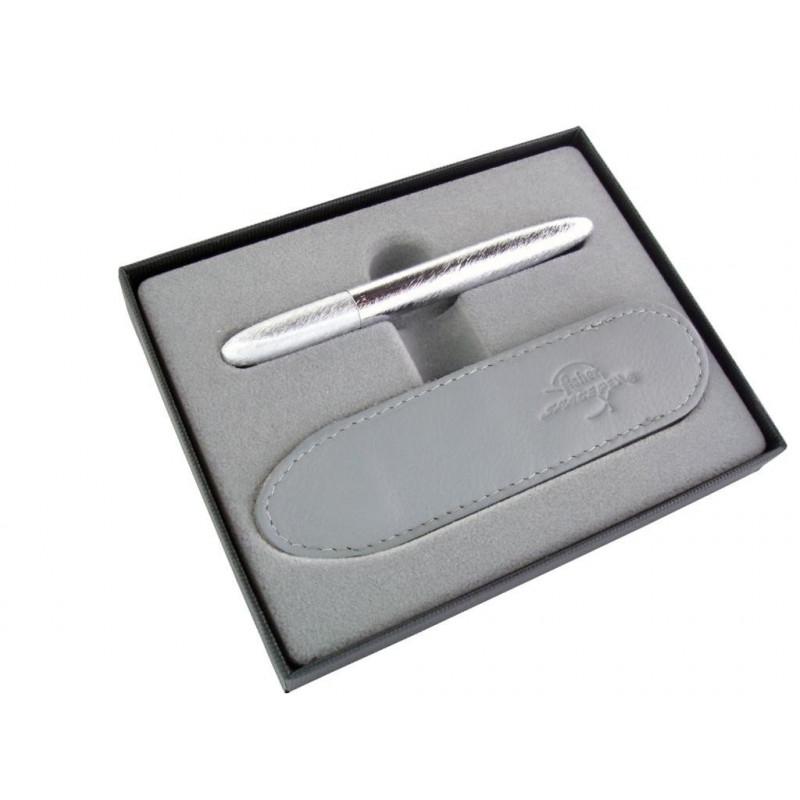 Coffret Stylo Bille Pocket Fisher Pen® Chromé Brossé + Etui