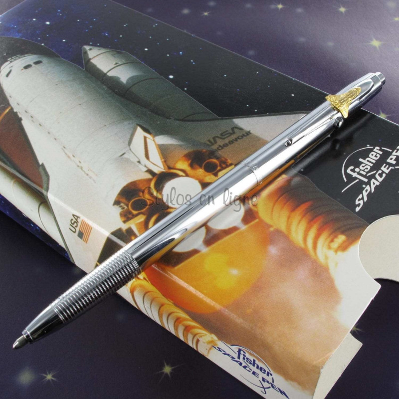 Stylo Bille Fisher Space Pen® Space 1 - Chromé avec Navette -