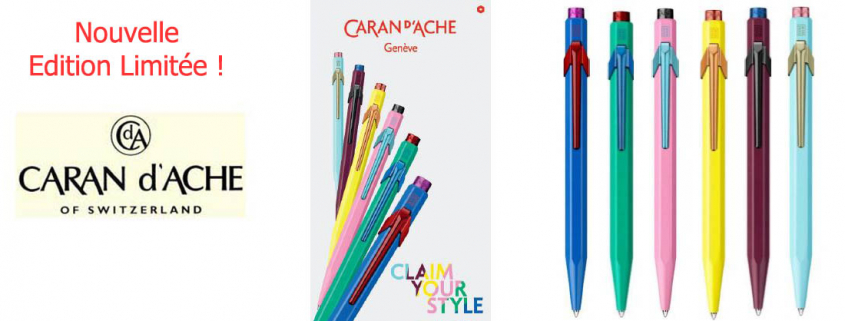 Nouvelle collection 849 des stylos billes Caran d'Ache